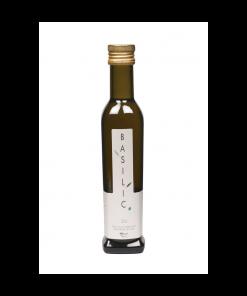 huile d'olive vierge aromatisée au basilic