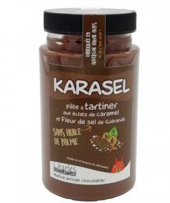 pate a tartiner karasel aux éclats de caramel et fleur de sel de Guérande